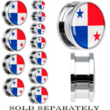 Panama Flag Stainless Steel Screw Fit Plug