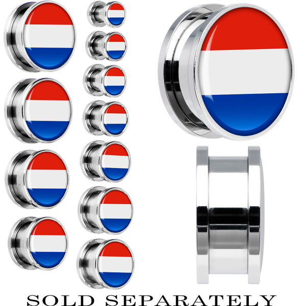 Paraguay Flag Stainless Steel Screw Fit Plug