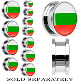Bulgaria Flag Stainless Steel Screw Fit Plug