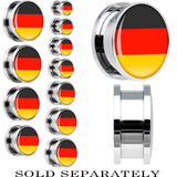 Germany Flag Stainless Steel Screw Fit Plug
