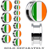 Ireland Flag Stainless Steel Screw Fit Plug