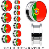 Portugal Flag Stainless Steel Screw Fit Plug