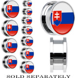 Slovakia Flag Stainless Steel Screw Fit Plug