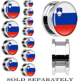Slovenia Flag Stainless Steel Screw Fit Plug