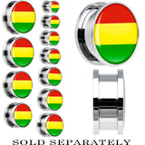 Bolivia Flag Stainless Steel Screw Fit Plug