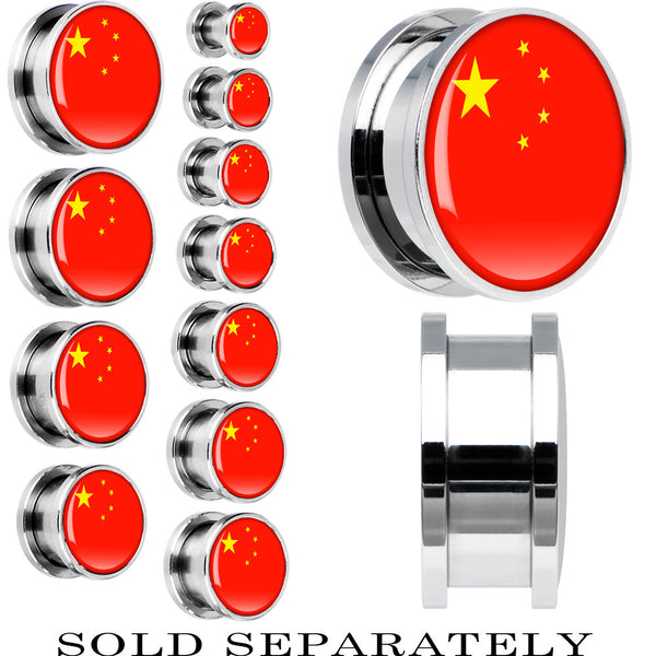 China Flag Stainless Steel Screw Fit Plug