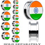 India Flag Stainless Steel Screw Fit Plug