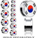 South Korea Flag Stainless Steel Screw Fit Plug