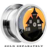 Haunted House Glow in the Dark Screw Fit Plug in Stainless Steel
