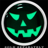 Grinning Jack O' Lantern Glow in the Dark Screw Fit Plug in Stainless Steel