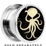 Ominous Octopus Glow in the Dark Screw Fit Plug in Stainless Steel
