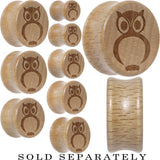 Owl Saddle Plug in Organic Beech Wood