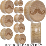 Mustache Saddle Plug in Organic Beech Wood