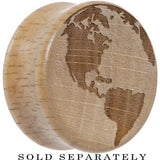 Earth Saddle Plug in Organic Beech Wood