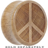 Peace Sign Saddle Plug in Organic Beech Wood