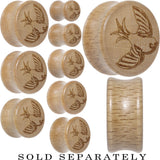 Sailor's Swallow Bird Saddle Plug in Organic Beech Wood