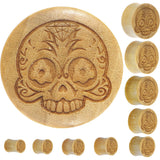 Organic Crocodile Wood Sugar Skull Plug