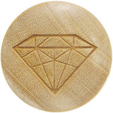 Organic Crocodile Wood Diamond Shape Plug