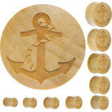 Organic Crocodile Wood Anchor Plug