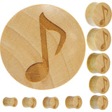Organic Crocodile Wood Music Note Plug