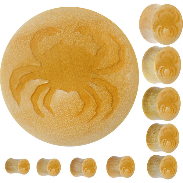 Organic Crocodile Wood Sea Crab Saddle Plug