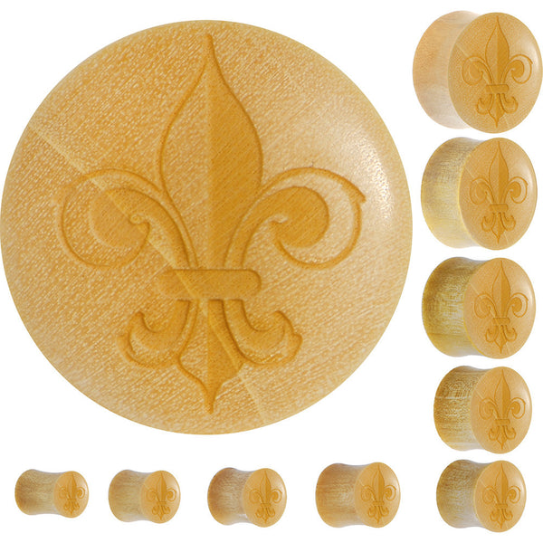 Organic Crocodile Wood Fleur de Lis 5050 Saddle Plug