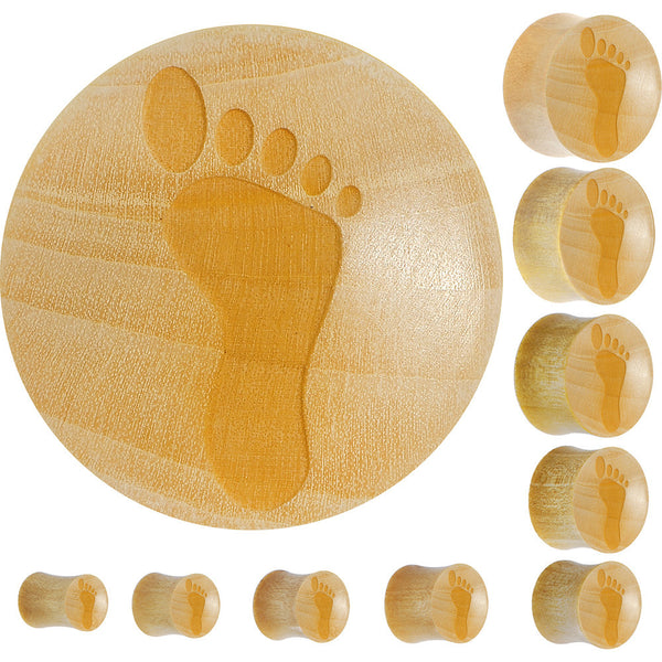 Organic Crocodile Wood Footprint Saddle Plug