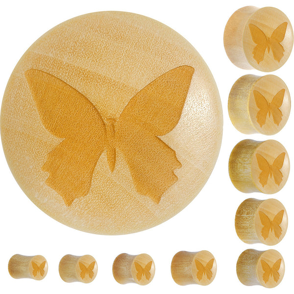 Organic Crocodile Wood Butterfly Saddle Plug