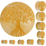 Organic Crocodile Wood Tree of Life Saddle Plug