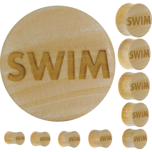 Swim Saddle Plug in Organic Crocodile Wood