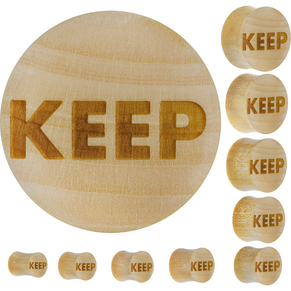 Keep Saddle Plug in Organic Crocodile Wood