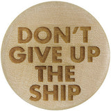Don't Give Up the Ship Saddle Plug in Organic Crocodile Wood