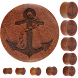 Organic Sawo Wood Anchor Plug