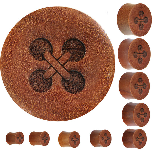 Organic Sawo Wood Button Plug