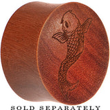 Organic Sawo Wood Koi Fish Saddle Plug