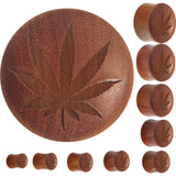 Organic Sawo Wood Ganga Leaf Full Saddle Plug