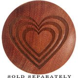 Organic Sawo Wood 3 Heart Monte Saddle Plug