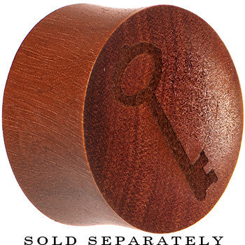 Organic Sawo Wood Antique Key Saddle Plug