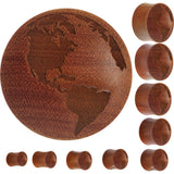 Organic Sawo Wood Earth Saddle Plug
