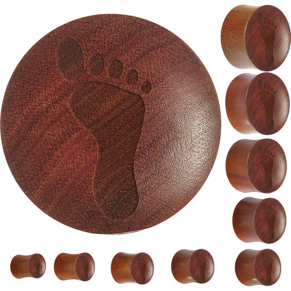Organic Sawo Wood Footprint Saddle Plug