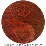 Organic Sawo Wood Yin-Yang Peace-Love Saddle Plug