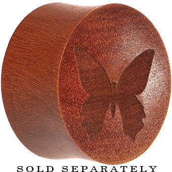 Organic Sawo Wood Butterfly Saddle Plug