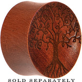 Organic Sawo Wood Tree of Life Saddle Plug