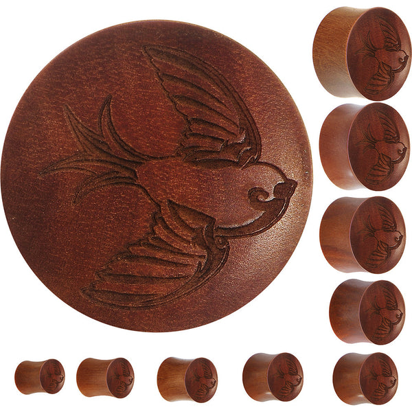 Organic Sawo Wood Sailor's Swallow Bird Saddle Plug