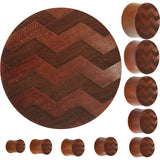 Organic Sawo Wood Chevron Pattern Saddle Plug