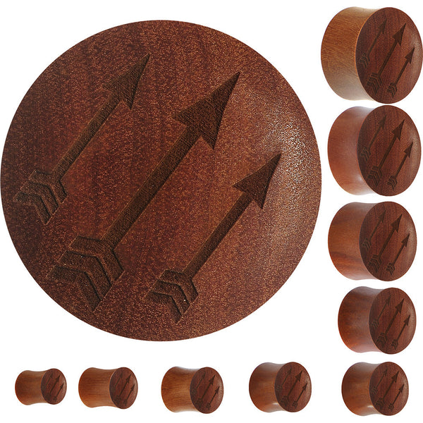 Organic Sawo Wood Archer's Arrows Saddle Plug