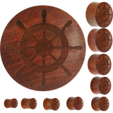 Organic Sawo Wood Captain's Wheel Saddle Plug