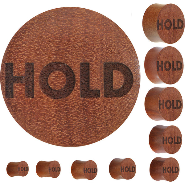 Hold Saddle Plug in Organic Sawo Wood