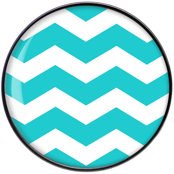 Turquoise and White Chevron Black Anodized Barbell Tongue Ring