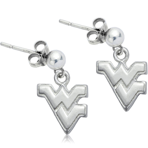 Collegiate University of West Virginia Post Dangle Earrings